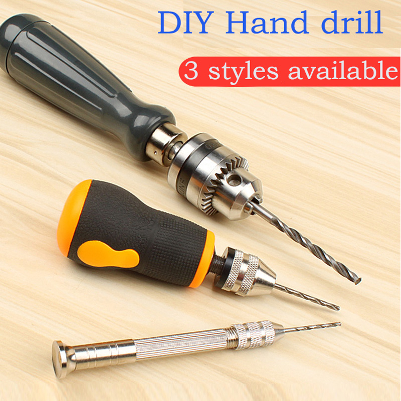 Hand twist drill hand tool hand drill mini small hand grip carpenter's chuck d200mm white glass round ball shade fabric wire pendant lamp fixture brass drop modern home lighting bedroom cafe decoration