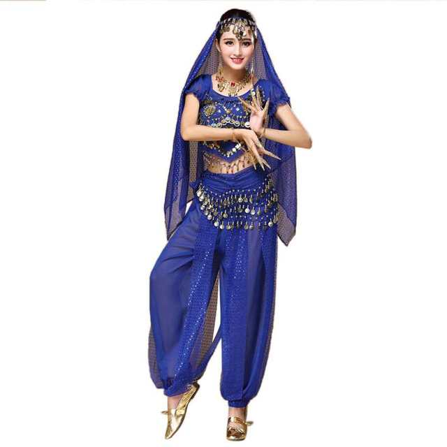 09121b6cd129 Belly Dance Costume Bollywood Costume Indian Dress Bellydance Dress Womens  Belly Dancing Costume Sets Top+Pants