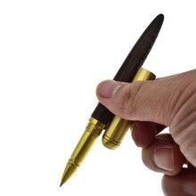 Luxury Wood Brass Gel Ink Pen 0.5 mm Black Ink Gift Pen Office Stationery School Supplies Joy Corner 0 7mm white highlight pen sketch markers paint marker pen white ink gel pen for office school supplies joy corner