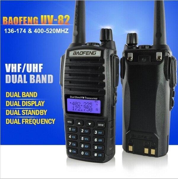 bilder für 2 stücke baofeng uv-82 dualband 136-174 mhz & 400-520 mhz mhz walkie talkie fm ham tragbare zwei-wege-funk-transceiver, fern