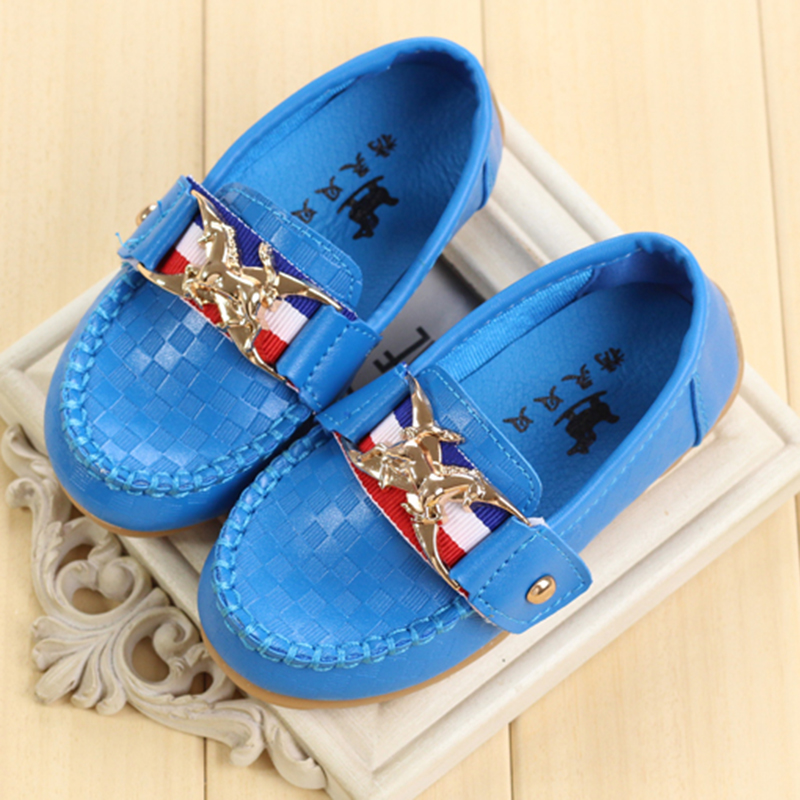 Kids Shoes Girls 2016 New Spring Metal Decoration Solid Kids Shoes For Girl Casual Korean Version Girl Shoes 9032Z