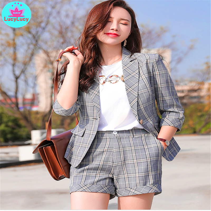 2019 Spring And Summer New Women's Korean Style Net Red Single Small Suit Short Coat Professional  Women Blazer  Formal Notched