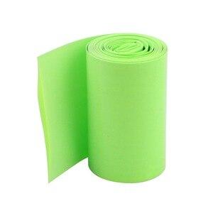 Uxcell couvercle de gaine thermorétractable | 2 mètres, 6,5 pieds de Long, 50mm de largeur, vert clair, tube thermorétractable, pour 2x18650 batteries