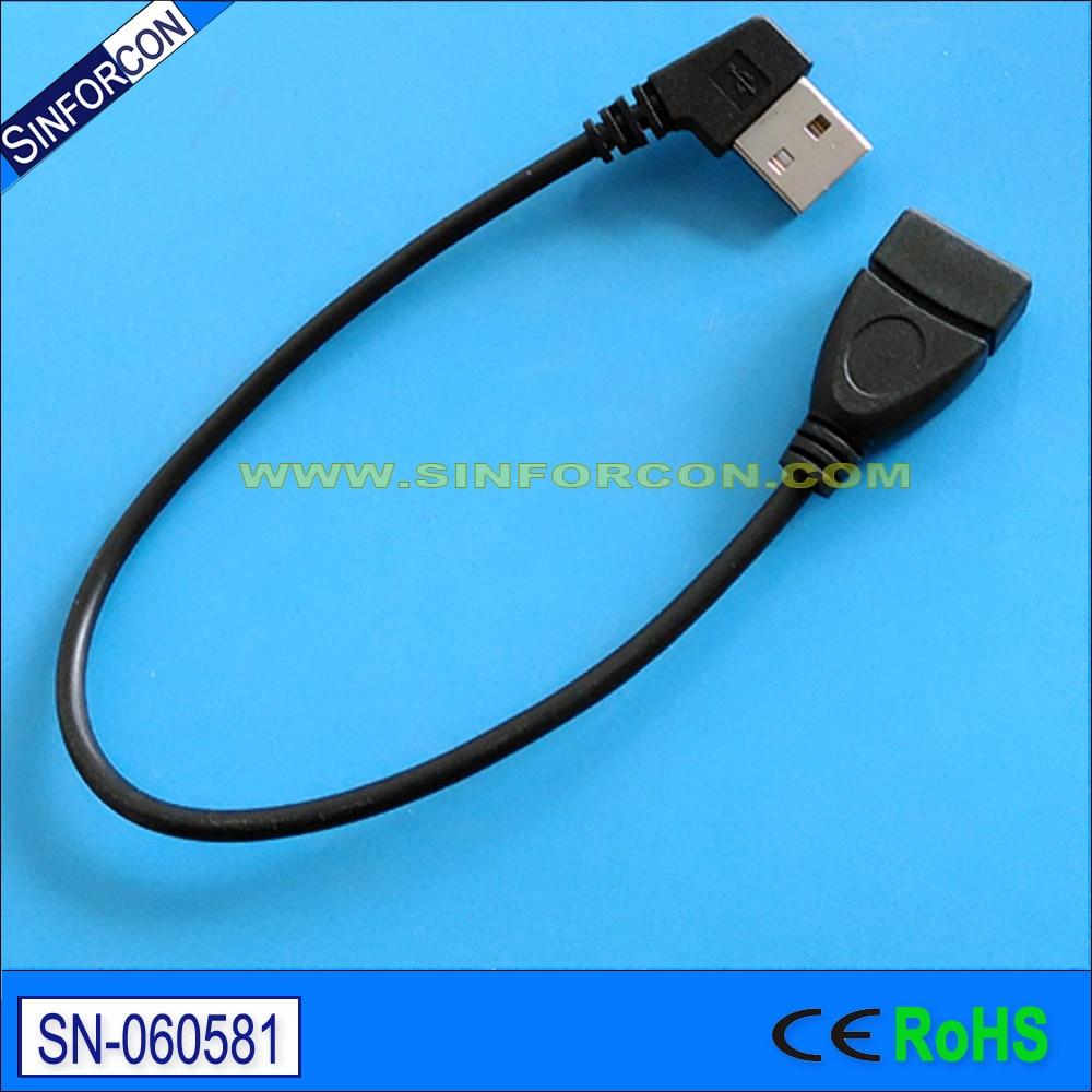 l formos USB kabelis 105 laipsnių kampu sujungtas USB kabelis