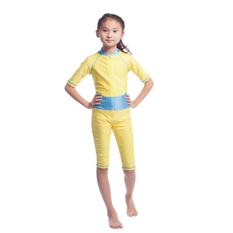 Factory Price font b Muslim b font Arab Kids Girls Swimwears Islamic Conservatism Beachwear Quick Drying