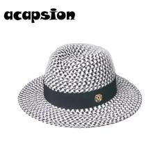 Panama Hat Summer Sun Hats for Women Men Wide Brim Visors Beach Fedoras UV Protection Cap Chapeau Femme A108