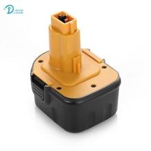 Para DVISI DeWalt 12 V 3600 mAh de La Batería Recargable Baterías Herramientas Eléctricas Taladro Inalámbrico para DE9071 DE9074 DE9075 de 2802 K Ni-MH