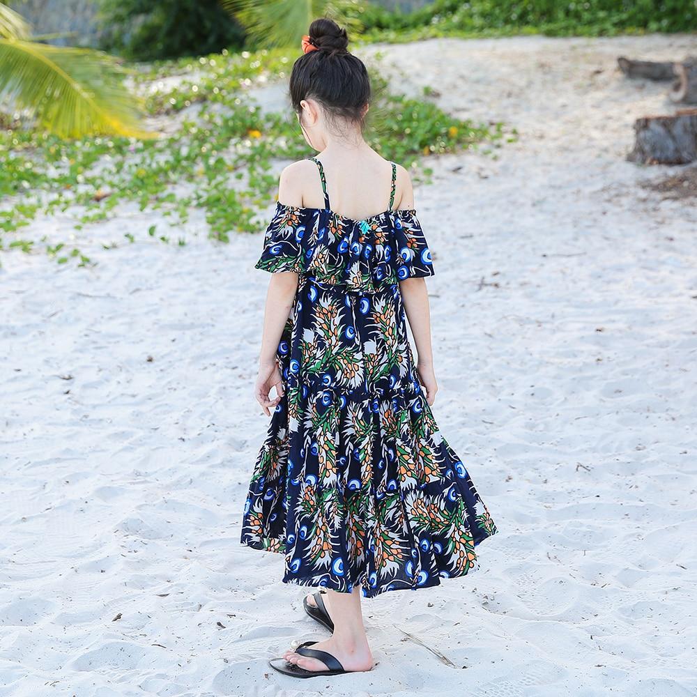 B-S202 Summer New Fashion Girls Party Casual sukienki na ramiączkach - Ubrania dziecięce - Zdjęcie 4