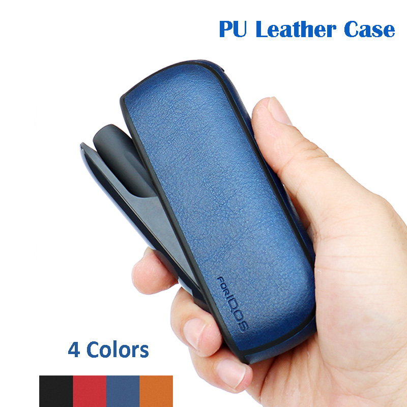 US $4 4 20% OFF|Solid Color Case For IQOS 3 PU Leather Case For IQOS 3 0  Carrying Case Sleeve Cover E Cigarette Accessories Storage Case-in CD/DVD