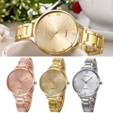 2017 Relogio Masculine Fashion Women Crystal Stainless Steel Analog Quartz Hours  Wrist Watch Bracele  erkek kol saati  #June2