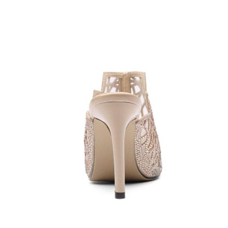 Apricot Talons Haute Diapositives Pantoufles up Mince Super D'été Couleurs À black Plein Chaussures 2 Themost 8cm Femmes De Air En Choisir IHSqpFwx