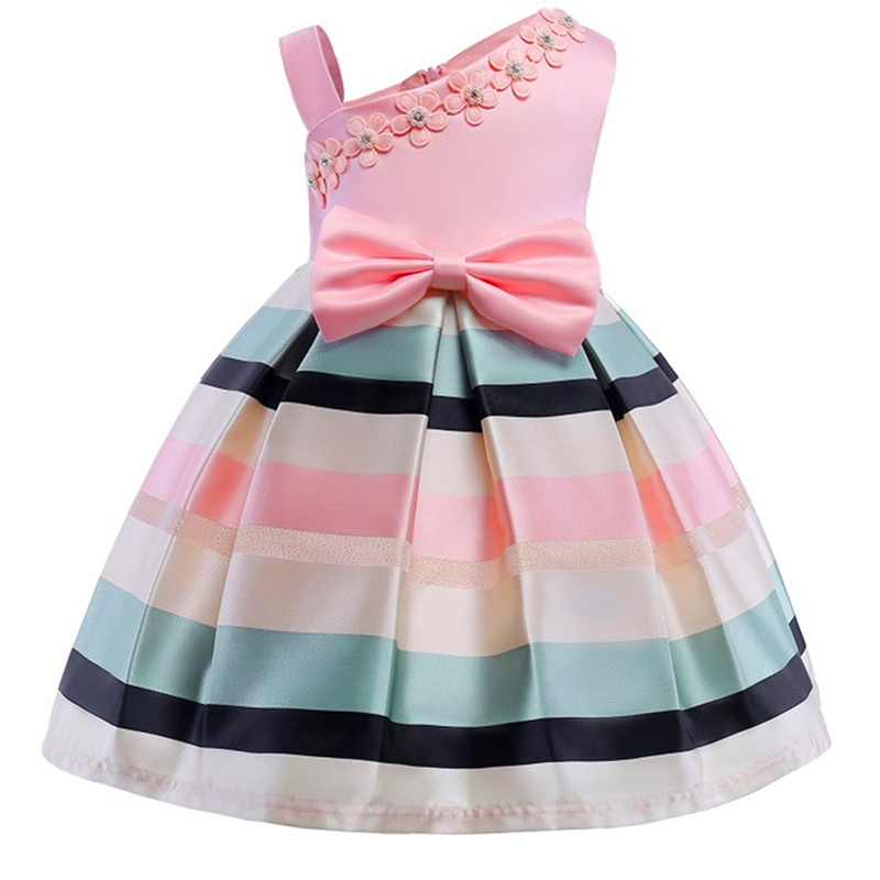 Hot Sale Bow Striped Princess Of Girls Baby Reception Formagirls ...