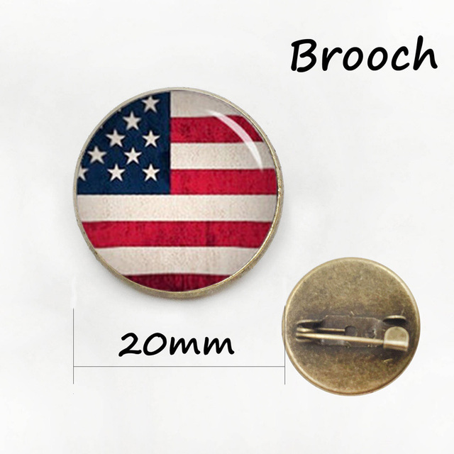 Independence Day gift bijoux brooch pins jewelry American flag Stars and  Stripes USA flag forth of July pins for men cc916b91ea2f