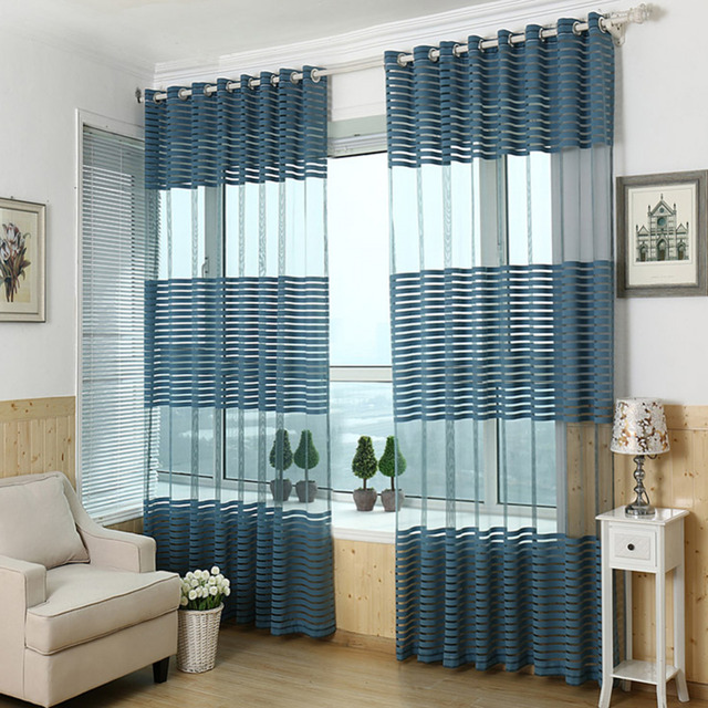 Home Decor Screens Jacquard Curtain Punching Screens Wild Striped