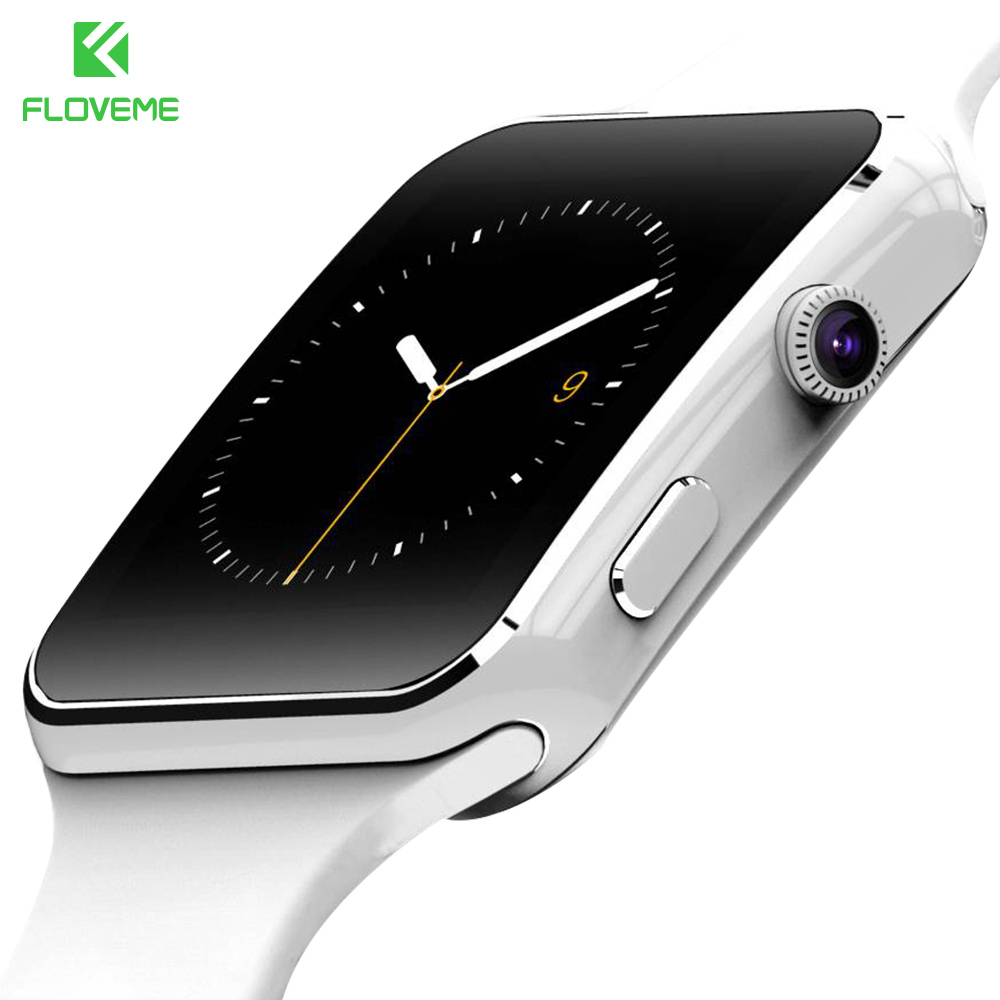 imágenes para Floveme e6 de lujo hombres mujeres deporte podómetro sleep monitor de pantalla hd bluetooth tf/tarjeta sim smart watch para samsung android teléfono