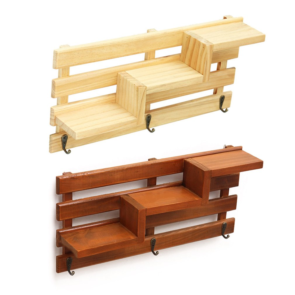 Intellective Creative Wooden Rack Staircase Storage Flower Bonsai Display Shelf Wall Mounted Bookshelf Ladder Racks Wall Decoration Easy And Simple To Handle Home Improvement