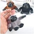 2017 new trinket  keychain bunny keychains on bag monkey Keychain fur pom pom charms  for bags  anime