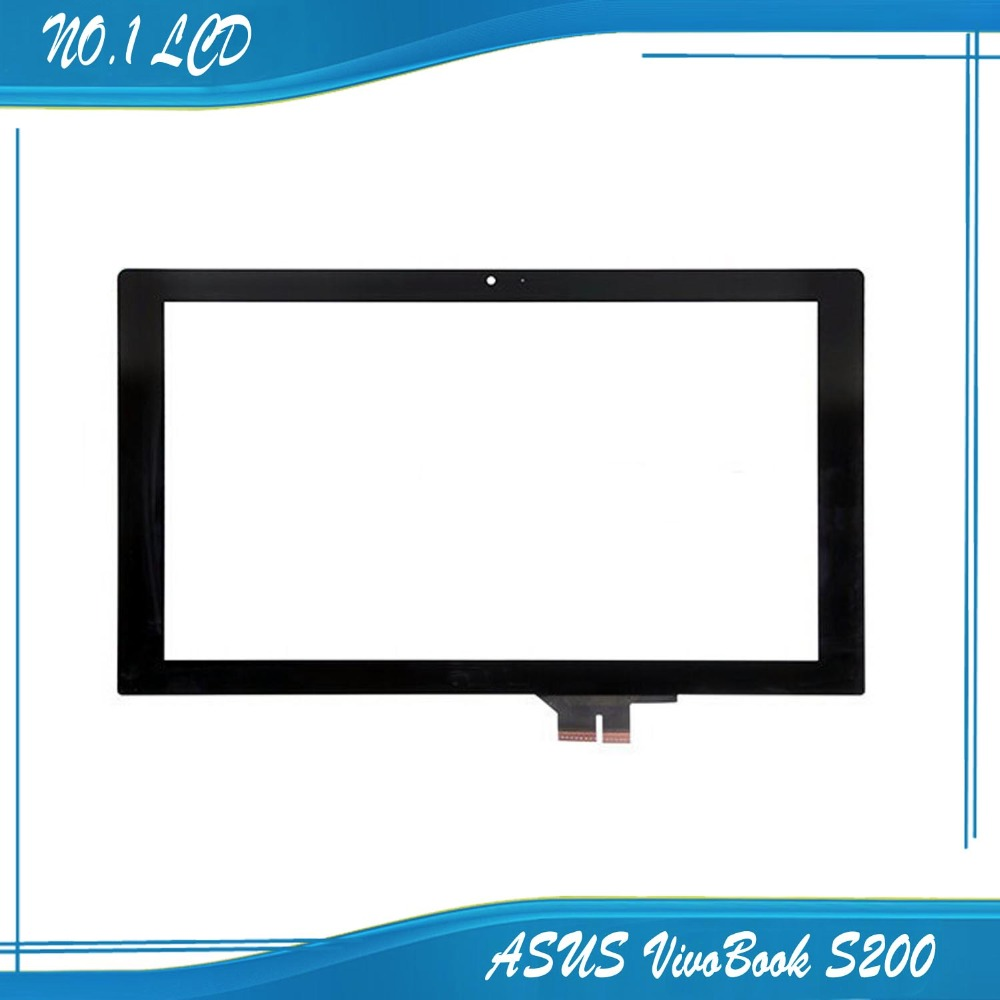 New 11.6 inch For ASUS VivoBook S200 S200E touch screen with digitizer touch panel ,Black Free shipping !!!