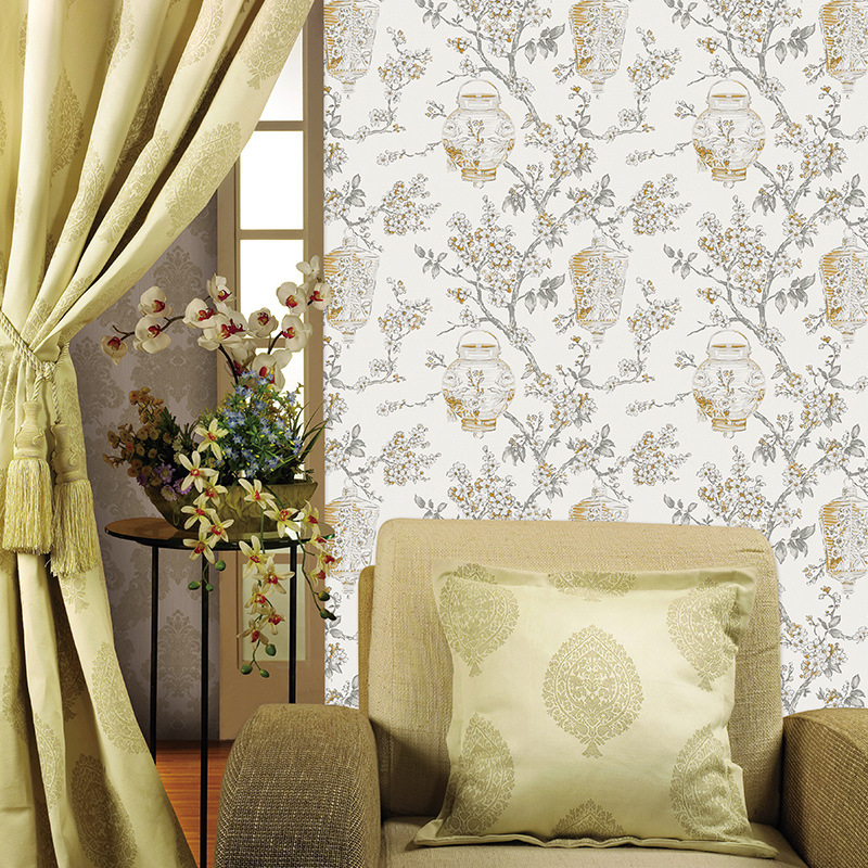Beibehang Nieuwe Chinese Pastorale Wind Wallpapers Woonkamer Leisure ...