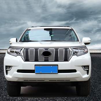 Fit for  Toyota Land Cruiser Prado FJ150 2018 Exterior Accessories Honeycomb Front grill grille Combo Insert Trim Car-styling