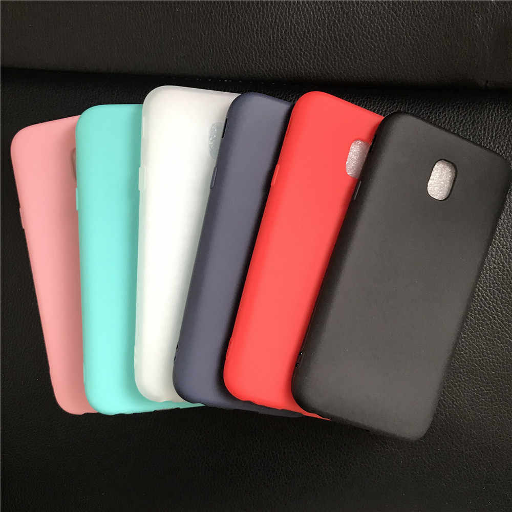Soft TPU Cases For Samsung Galaxy J7 2017 Case Slim 360 Candy Color Silicone Back Cover For Samsung J7 2017 J730 Case funda capa