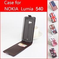 Painted Fashion New Original For Microsoft Lumia 540 Leather Case Flip Cover For Microsoft Nokia Lumia