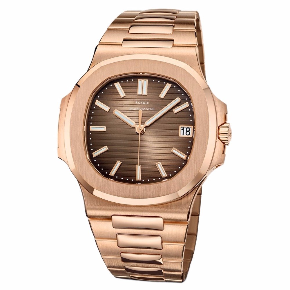 High quality New arrvial Luxury Fashion Mens Watches Top Brand Luxury 50M Waterproof Full Steel Watch Men 2018 New sport Watch
