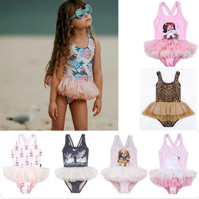 Kids Baby Girls Flower Tutu Swimwear Swimsuit Bathing Suit Bikini Beachwear