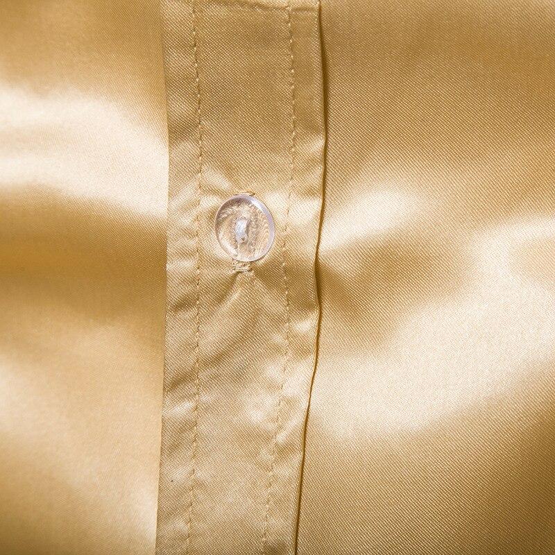 Image 5 - Vintage Chest Flower Palace Tuxedo Men Shirt Silk Satin Smooth Petal Sleeve Shirts Men Dress Stage Wedding Prom Chemise Homme-in Tuxedo Shirts from Men's Clothing