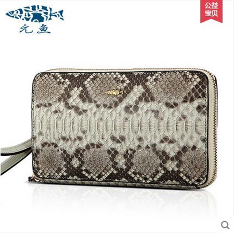 yuanyu 2018 hot new free shipping real Python skin women clutches  women long wallet high-capacity small women bag women purse yuanyu new crocodile wallet alligatorreal leather women bag real crocodile leather women purse women clutches