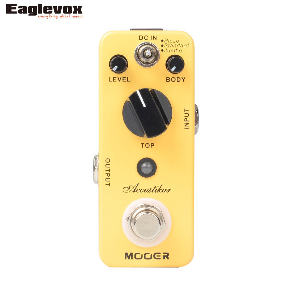 Mooer Acoustikar Guitar Simulator Electric Guitar Effect Pedal True bypass nux roctary force simulator polyphonic octave stomp boxes electric guitar effect pedal fet buttered tsac true bypass