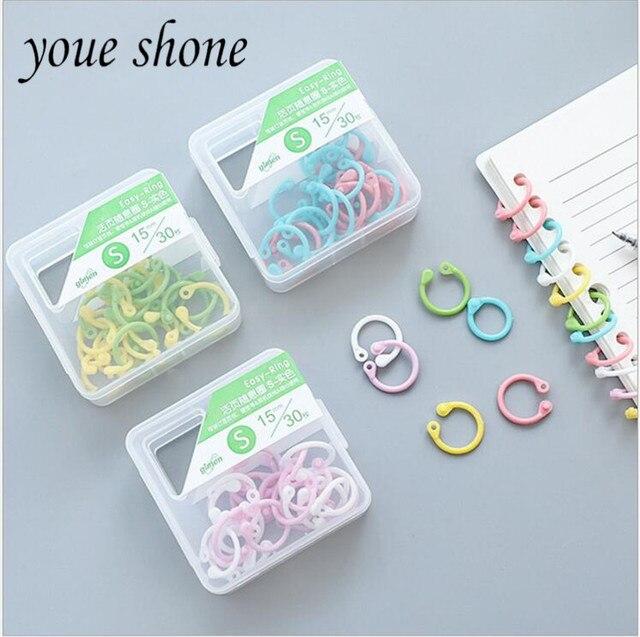 Multi color plastic book rings booklet loose leaf booklet binding ...