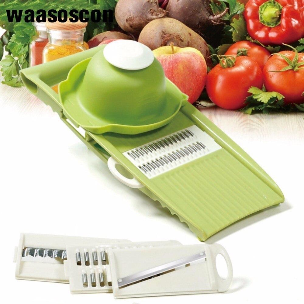 Multifunction Stainless Steel Vegetable Holder Potato Slicer Vegetable Cutter Shredder Cracker Grater Safety Cooking Tools