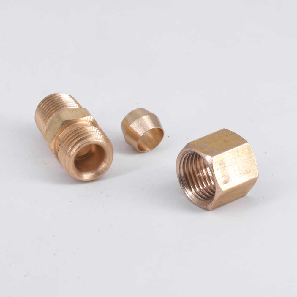 "1//8/"" NPT Female Thread TO 1//4/"" 6.35mm Hose Barb Straight Brass Fitting Union F"