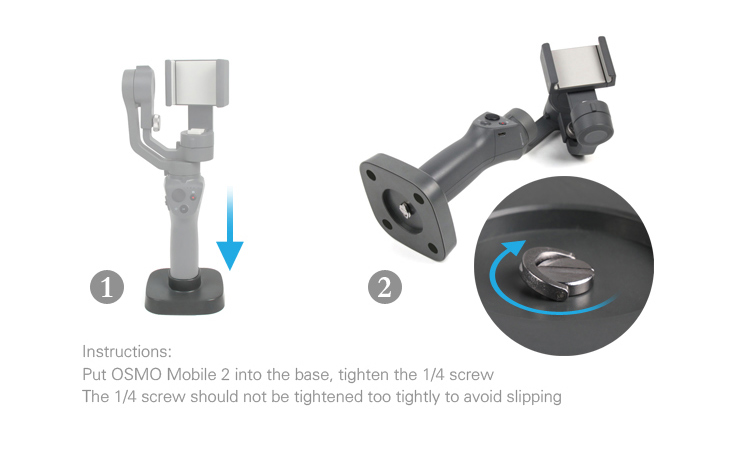 DJI Osmo mobile 2 Base used to fix the Osmo Mobile 2 Stable on tables Osmo 2 Handheld Gimbal Base Stand Mount Accessories-11