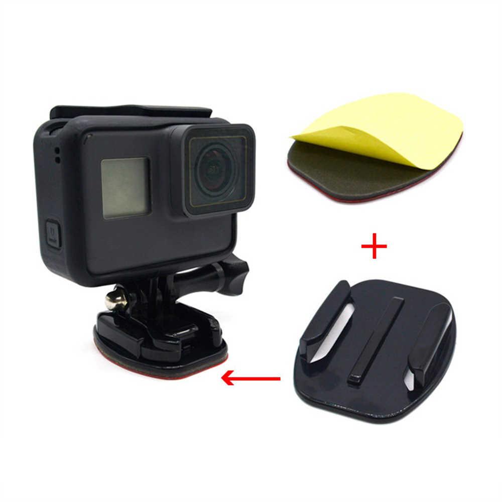 Para Ir Pro Xiaomi Yi SJCAM ACTION Camera Capacete Carro Placa Montagens Adesivas Para Go Pro 7 6 5 4 3 Plano curvo Montagens Pegajosas Almofadas
