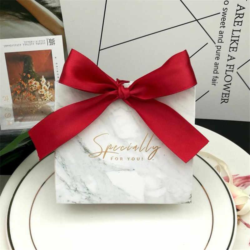 100 шт Серые Мраморные линии конфеты мешок коробки для вечерние украшения стола/события вечерние поставки/свадебные любимые подарочные коробки