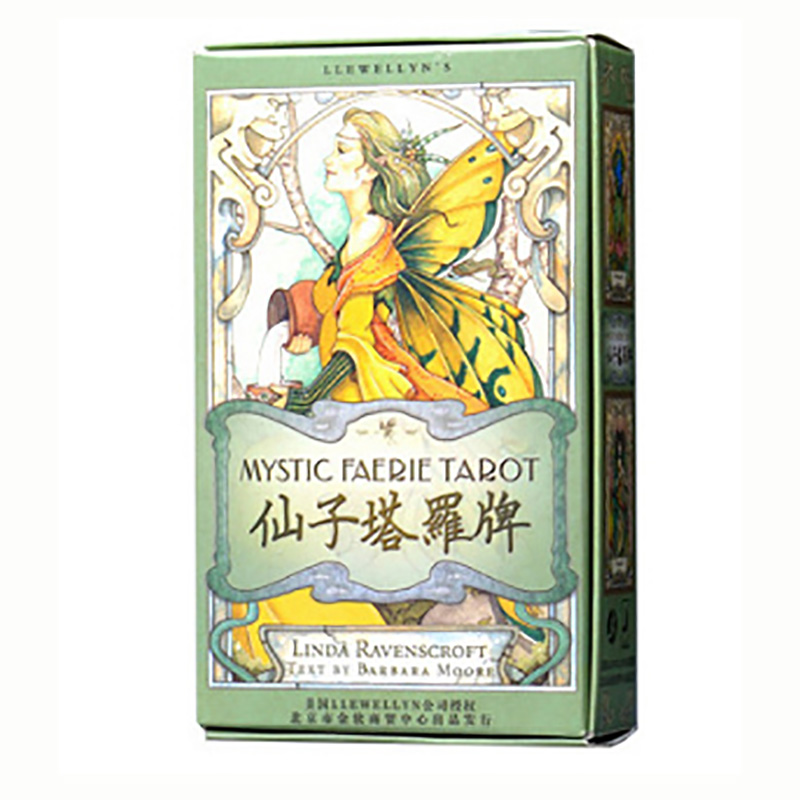 MysticTarot Cards Divination Cards Game 12*7cm Cards Chinese Version For Family/Friends