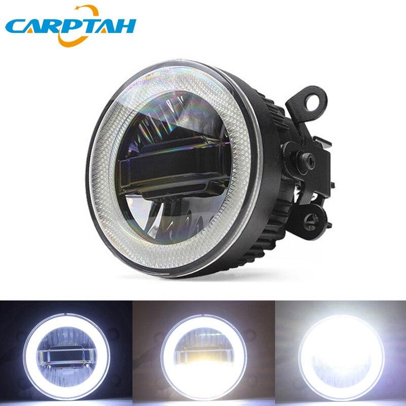 CARPTAH antibrouillard LED lumière de voiture diurne lumière DRL 3-en-1 fonctions Auto projecteur ampoule pour Nissan Frontier 1998-2015