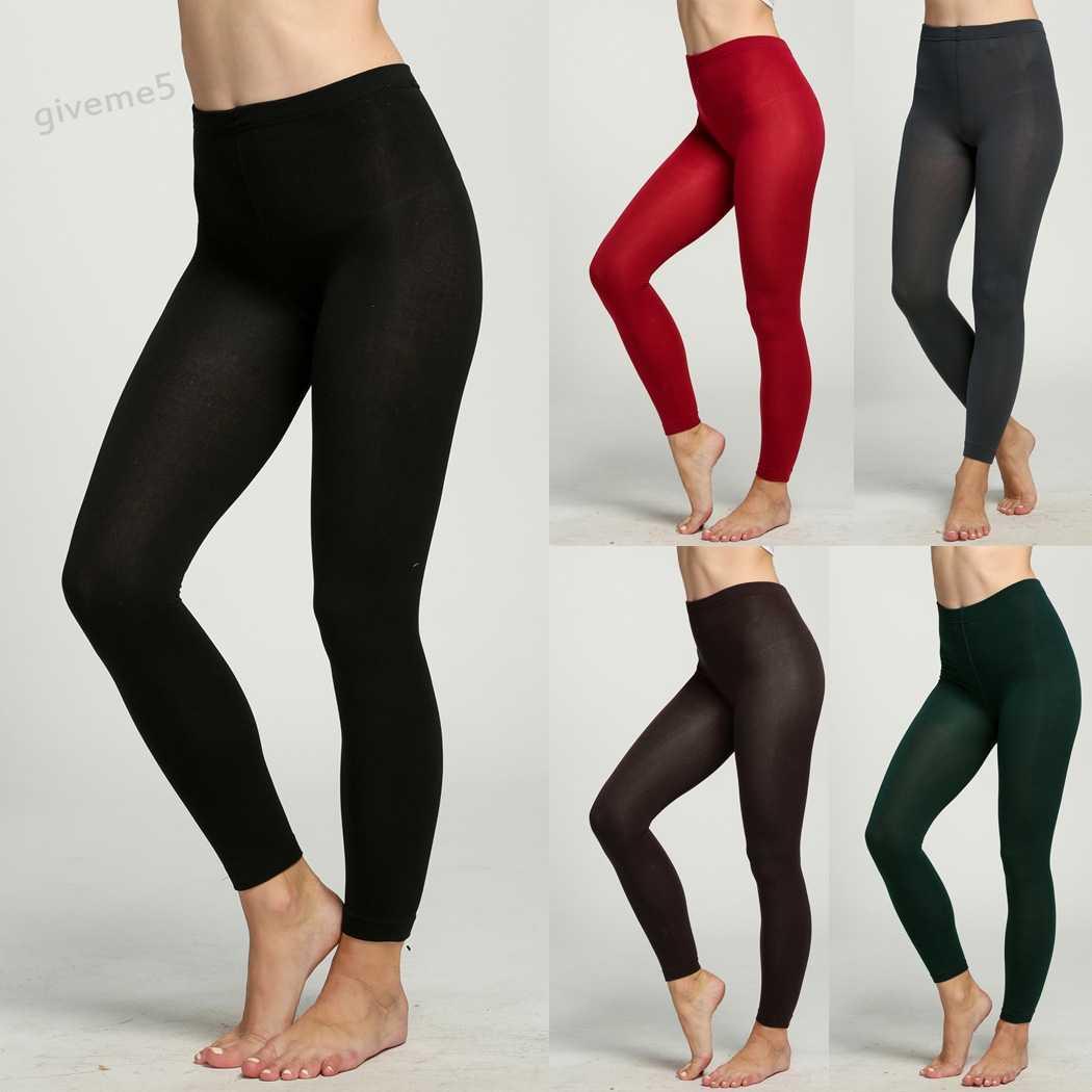 0004e0898c12a Модные женские длинные облегающие брюки сексуальные женские толстые колготки  теплые зимние тонкие стрейч брюки
