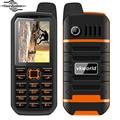 "2.4 ""vkworld piedra v3 plus teléfono 4000 mah batería grande impermeable del teléfono móvil a prueba de polvo anti baja temperatura dual sim teléfono celular"