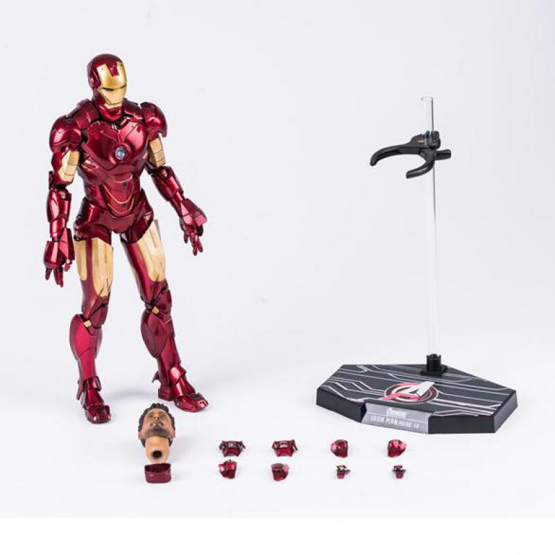 HC Amazing Edition Marvel Avengers Iron Man Action Figures MK4 1/6 Scale Painted Iron Man Model Toys Limited 28cm-in Action & Toy Figures from Toys & Hobbies    1