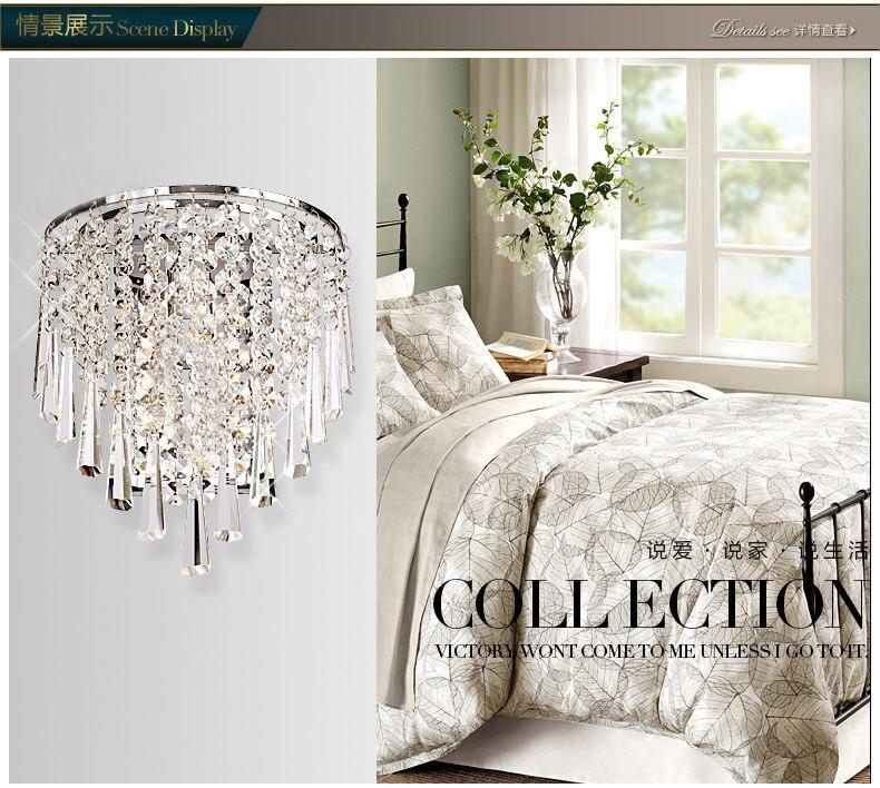 US $46.02 22% di SCONTO|Cristallo K9 Europeo lampada da comodino camera da  letto moderna semplice soggiorno sfondo muro scale corridoio lampada da ...