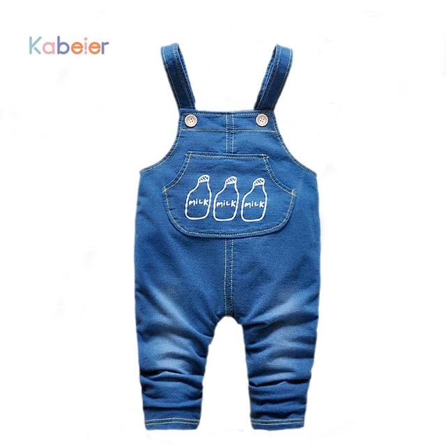 023fb9d44f7d Kids Denim Jumpsuits for Baby Boy Girl Overalls Bib Child Denim ...