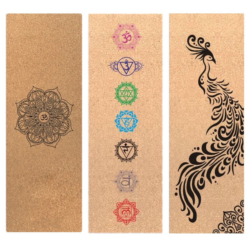 Customizable Cork Rubber Non Slip Yoga Mat for Pilates Fitness Hot Yoga Eco-friendly Non Slip Exercise Mats 183cm*68cm*4mm yoga mat natural rubber eco friendly non slip for bikram best yoga mat for hot yoga fitness easy to fold gym mat rubber