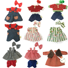 30cm Doll Clothes for Rabbit/Cat/Bear Plush Toys Skirt Sweater Suit Accessories for 1/6 BJ