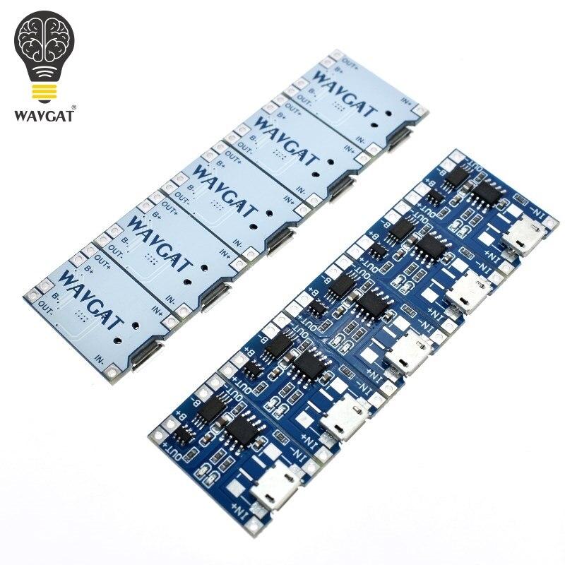 5 pces micro usb 5v 1a 18650 tp4056 módulo carregador de bateria de lítio placa de carregamento com proteção funções duplas 1a li-ion