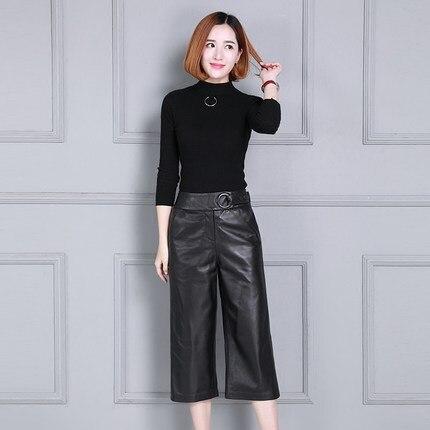 Pantalones Slim Mujeres Oveja Cintura 2019 Impresión Las P14 Alta De Piel R8x1x76qn