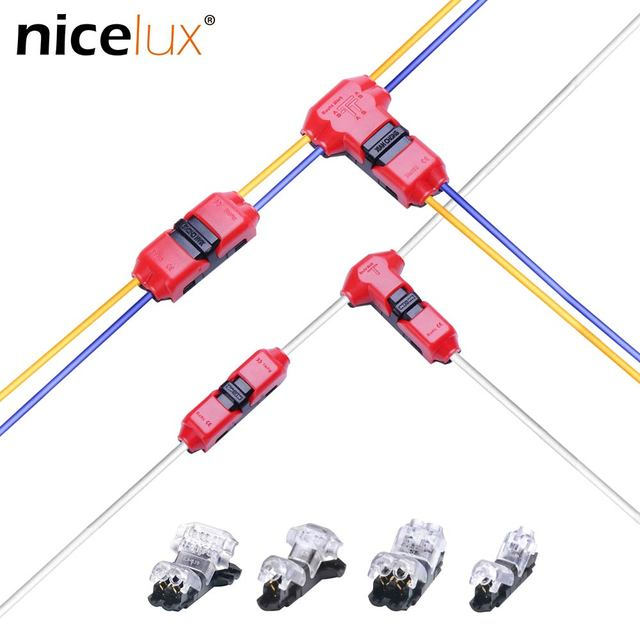 5pcs Quick Splice Scotch Lock Wire Wiring Connector for 1 Pin 2 Pin 22-18AWG LED Strip Wire Car Audio Cable Terminals Crimp