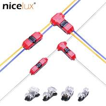 5pcs I/T tipo di 1pin 2pin Rapida Splice Scotch Blocco Filo Connettore per Terminali A Crimpare 22-18AWG Cablaggio LED striscia Auto Cavo Audio(China)